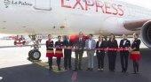 Iberia Express bautiza uno de sus aviones con el nombre de La Palma para promoverla como destino