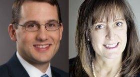 Brad Hall, nuevo vicepresidente de CWT y Kathy Orner, directora de riesgos
