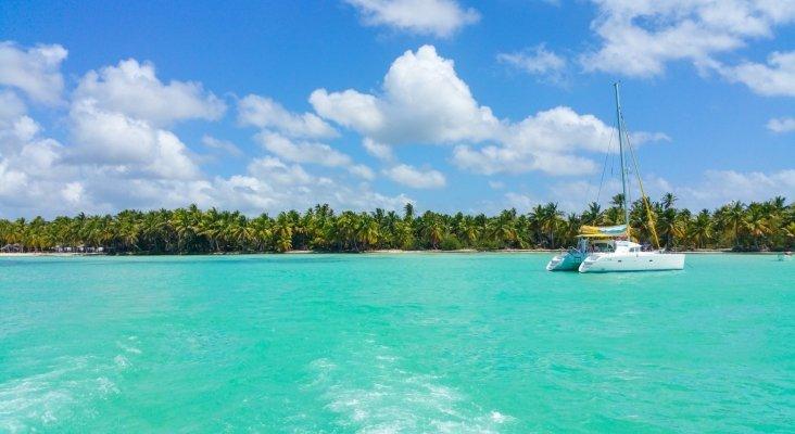 Catamarán en el Caribe
