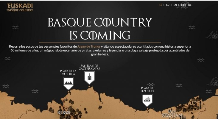 El País Vasco se promociona gracias a Juego de Tronos