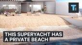 Yate con playa privada