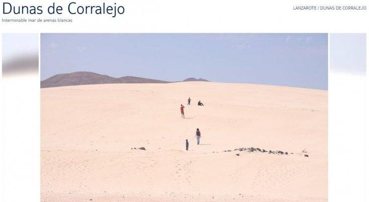 """Dunas de Corralejo, Fuerteventura en """"Lanzarote"""""""