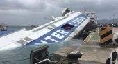 La embarcación sumergida en Algeciras