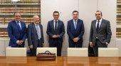 De izqda. a Dcha. Pedro Rosales, Francisco Perdomo, Pablo Rodríguez, Héctor Reboso y Luis Suárez