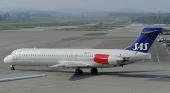 Avión de Scandinavian Airlines, una de las aerolíneas que operan en Canarias