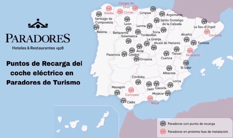 Paradores De España Mapa.Mapa De Paradores De Espana Mapa