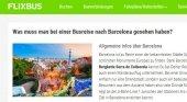Las empresas de autobuses alemanas, preocupadas por la nueva tasa de Barcelona