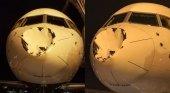 Extraña colisión pone en peligro avión de equipo NBA