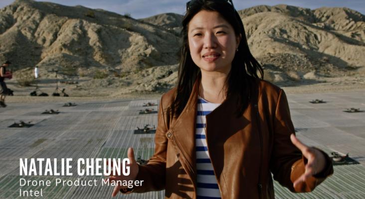 Una ingeniera de Intel, precursora en crear espectáculos con drones