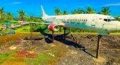 Boeing 737 abandonado en Bali