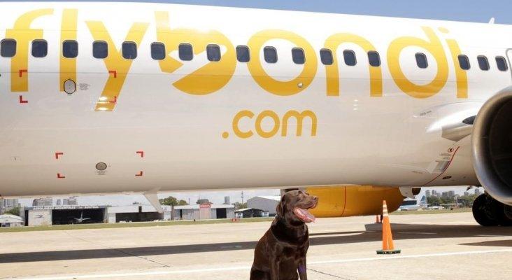 Presentación del avión con la mascota de Julian Cook