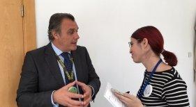 Rafael Gallego en la entrevista con Amor Alonso