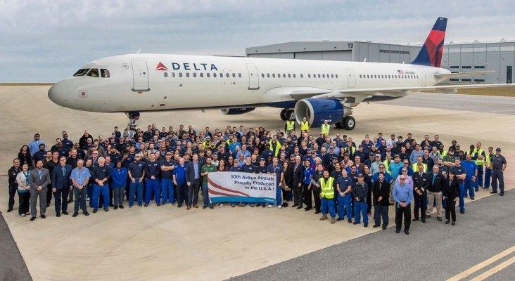 Airbus entrega el A321 a Delta Airlines