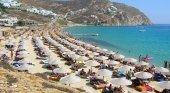 Playa en Mykonos