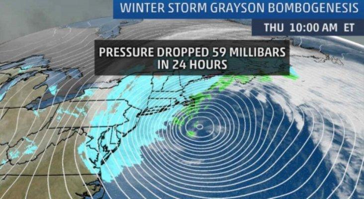La tormenta Grayson afecta a más de 10.000 vuelos y amenaza las rutas de cruceros