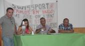 Los trabajadores de Swissport Handling en el aeropuerto de Lanzarote de huelga indefinida