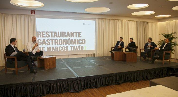 Presentación (izq.) Javier Muñoz; Marcos Tavío, Narvay Quintero; Carlos Alonso; Alberto Bernabé; José Manuel Bermúdez