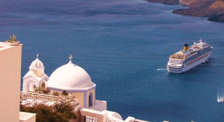 Los cruceristas son un problema en Santorini
