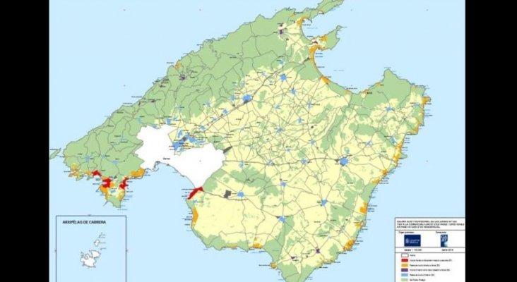 Mapa de zonificación del alquiler vacacional en Mallorca