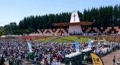 Fieles durante la misa papal en Chile