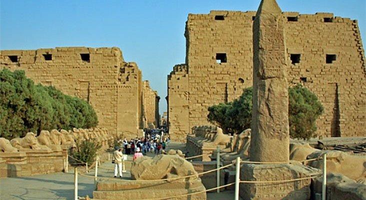 Templo en Luxor, Egipto