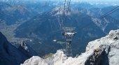 Inauguran el teleférico que alcanza la montaña más alta de Alemania