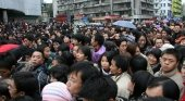 Multitud de chinos