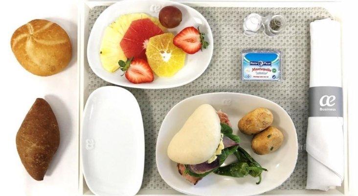 Menú Business de Air Europa
