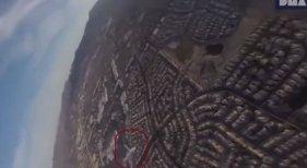 Dron graba el aterrizaje de un avión