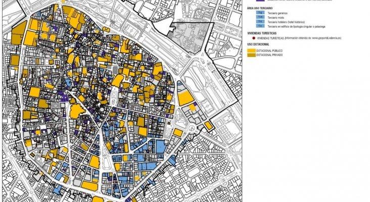 Mapa De La Ciudad De Valencia España.Entra En Vigor La Moratoria Hotelera En Valencia
