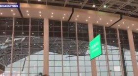 Colapsa el techo de un aeropuerto en China