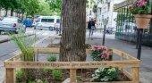 Jardín urbano en París