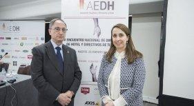 Manuel Vegas Lara, presidente nacional de AEDH y Nuria Zamorano, nueva gerente de AEDH