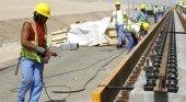 Construcción de las vías de La Meca a Medina Fuente: La Vanguardia