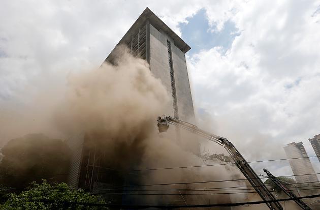 Arde la segunda planta de un importante hotel turístico