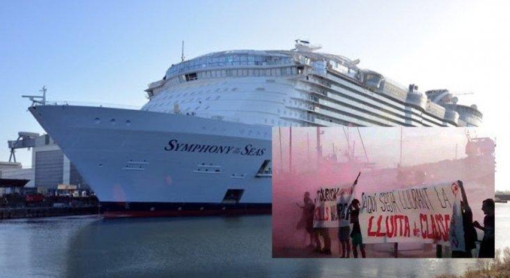 Protesta 'anti-turismo' en Mallorca contra el crucero más grande del mundo