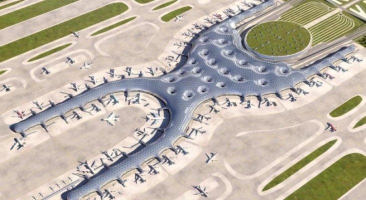 Proyecto del nuevo aeropuerto en la Ciudad de México. Foto de La Carpa