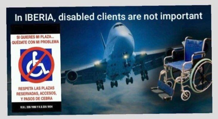 Iberia, si tratan a alguien con discapacidad así, ¿qué hacen con el resto?
