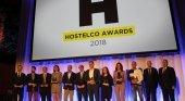 Galardonados en los Premios Hostelco 2018. Foto de 7Caníbales
