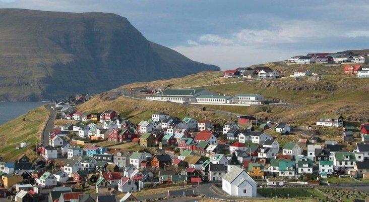 Localidad de Eioi, en las Islas Feroe
