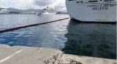Vertido de fuel de un crucero afecta el puerto de Palma. Foto de OK Diario