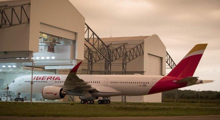 Plácido Domingo, el primer A350 de Iberia