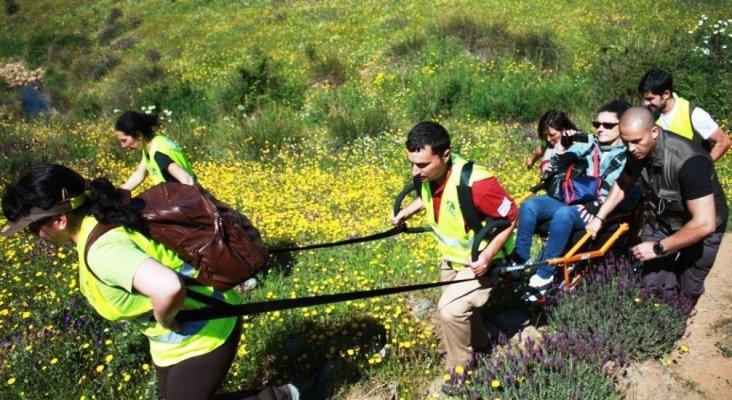 'Naturaleza para todos', proyecto de senderismo inclusivo. Foto de Montaña para todos