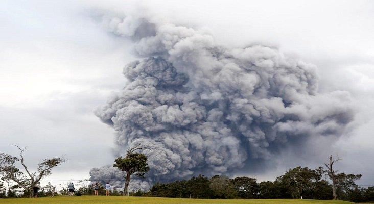 Gran erupción del volcán hawaiano Kilauea, en Hawái