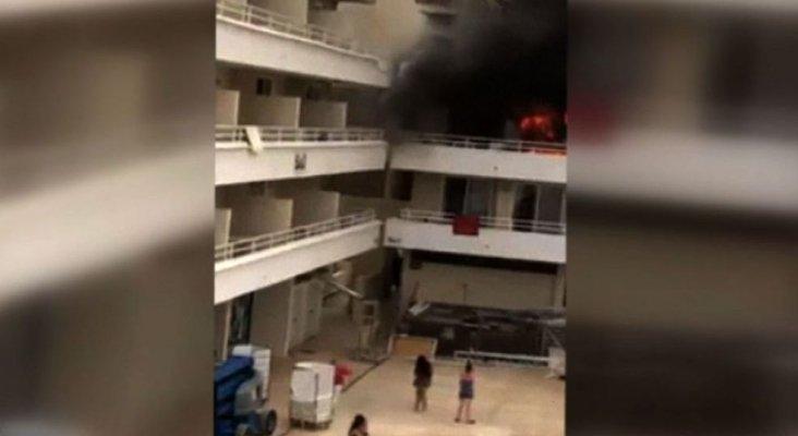Incendio en un hotel de Magaluf. Foto de Telecinco