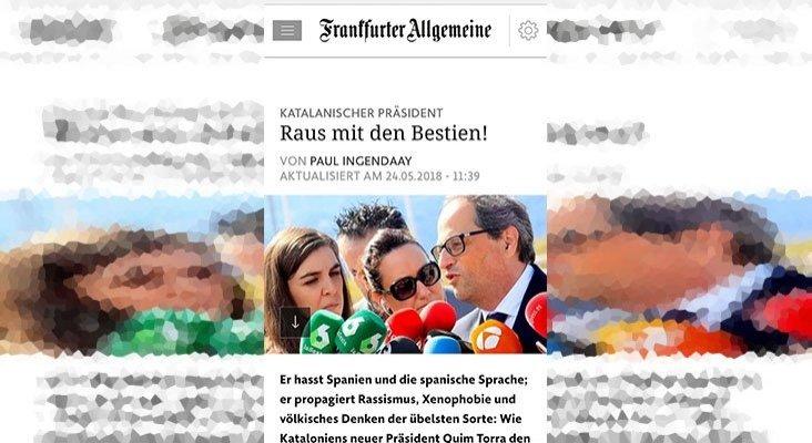 La prensa alemana carga contra el nuevo presidente de Cataluña