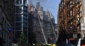 Incendio en un hotel de lujo en Londres