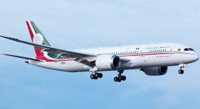 Avión presidencial mexicano. Foto de La Saga