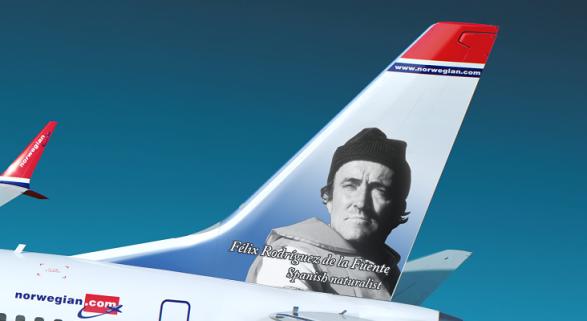 Norwegian homenajea a Félix Rodríguez de la Fuente