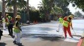 Los Ángeles pinta sus calles para combatir el calor